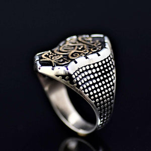Islamic Ring Adorned With Prophet Mohammad Sandal Known As Nalain Shareef