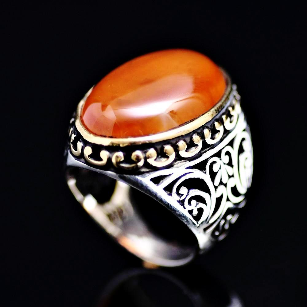 Marvellous Silver Ring Adorned With A Big Agate Stone