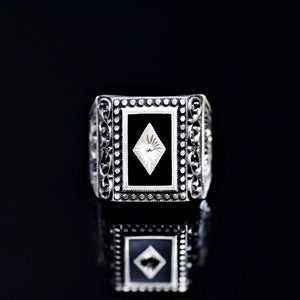 Masterpiece Silver Ring Of Outstanding Turkish Silver Workmanship Front