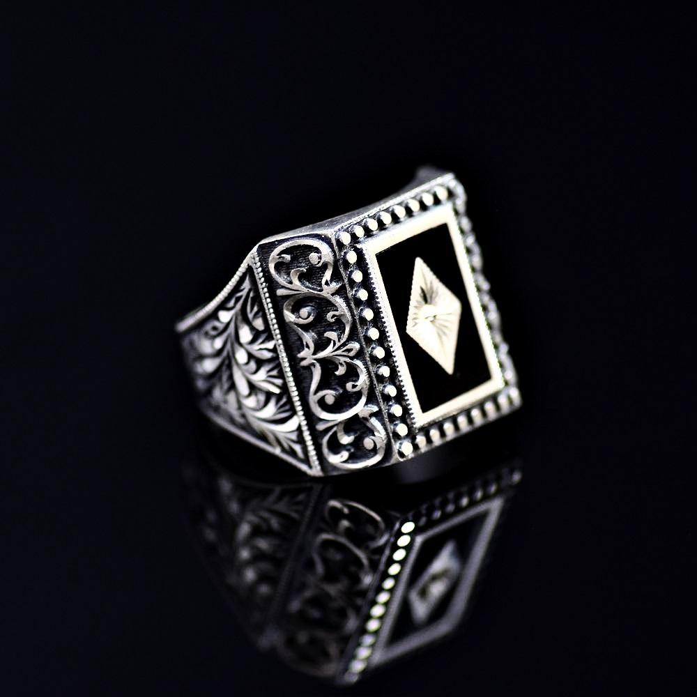 Masterpiece Silver Ring Of Outstanding Turkish Silver Workmanship Left
