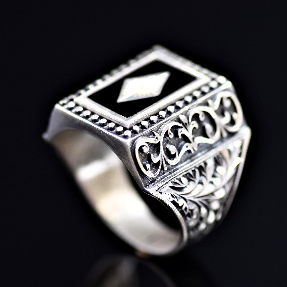 Masterpiece Silver Ring Of Outstanding Turkish Silver Workmanship