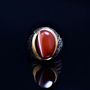 Men's Jewelry Adorned With Striped Agate Stone Front
