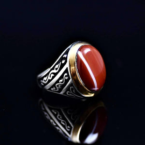 Men's Jewelry Adorned With Striped Agate Stone Left