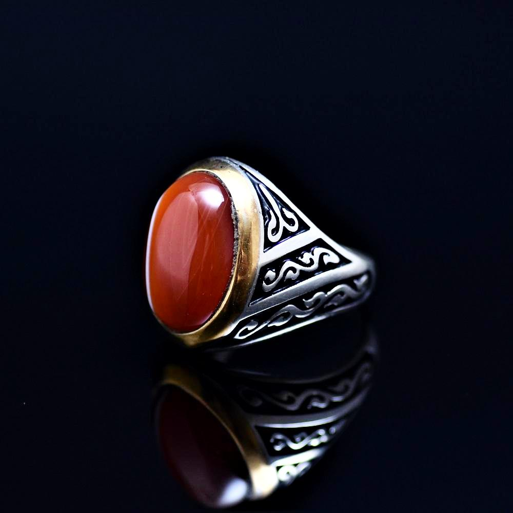 Men's Jewelry Adorned With Striped Agate Stone Right