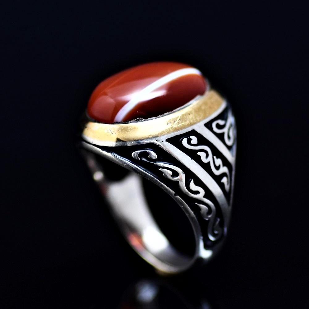 Men's Jewelry Adorned With Striped Agate Stone
