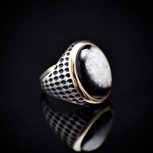 Striking Men's Silver Jewelry With Druzy Agate Stone Left