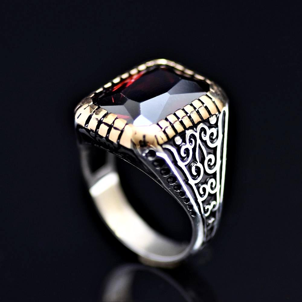 Turkish Silver Ring Adorned With Zircon Stone