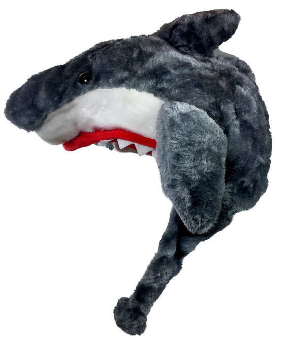 2017 New Cute Killer Nemo Shark Plush Hat Novelty Aquarium Fish Stuffed Cosplay Warm Hat Halloween Party Cap For Adult Kids