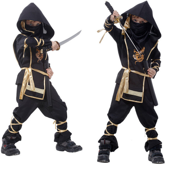 2017 New Hot Kids Ninja Costumes Halloween Party Boys Girls Warrior Stealth Children Cosplay Costume Children's Day Gifts