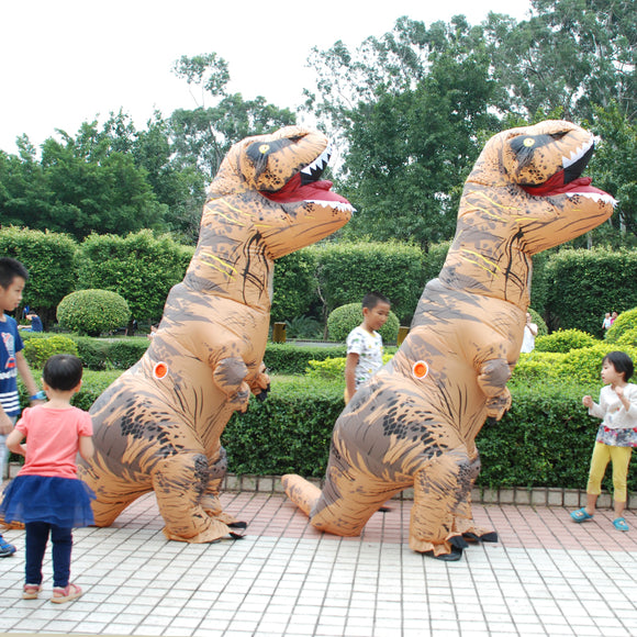 Adult  T-REX Inflatable Costume Christmas Cosplay Dinosaur Animal Jumpsuit Halloween Costume for Women Men