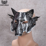 PMYUMAO Makeup Mask Dance Birthday Animal Wolves Face Masks Halloween decoration spoof wolf party mask 2017 new listen