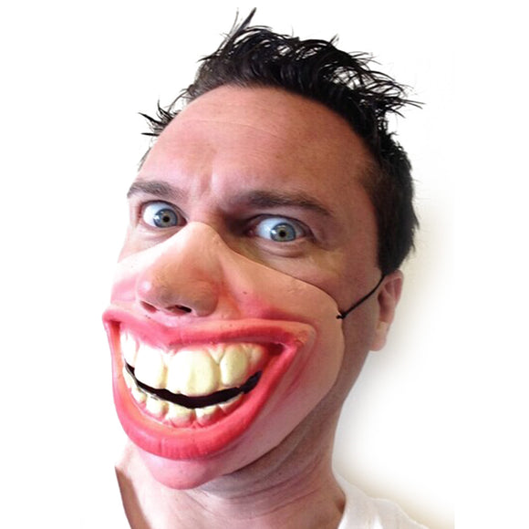 Big Teeth Latex Mask for Movie Fancy Dress Hallowee Masquerade Party Horror Creepy Elastic Band Half Face Masks Funny Costume