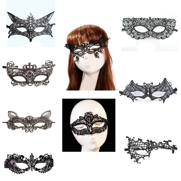 9 Style Female Masque Sexy Black Lace Mask Halloween