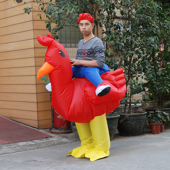 Halloween Costume for Adult Purim Cosplay Inflatable Chicken Costume Fancy Dress Cock Costumes Hen Stag Night Outfit