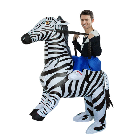 Halloween Inflatable Costume Zebra Cosplay Party Dress up Clothing Carnival Inflatable zebra costume for Women