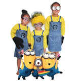 New Halloween Costume Men Adult Rompers Anime Cosplay Minions Fancy Couple Party Wear Funny Jumpsuit With Hat Glasses
