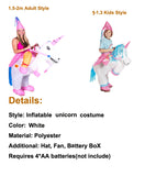 Inflatable Horse And Rider Costumes 1.5-2m Halloween Unicorn Inflatable Costume Party Cosplay Funny Unicorn Costume
