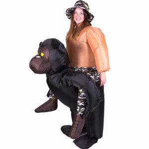 Inflatable Suit Costume Animal Chimpanzee Halloween Cosplay Costumes Christmas For Adult Club Themed about animal