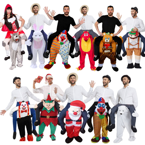 Halloween costumes New style Adult Size Mascot costume Ride On Me Mascot Fancy Dress Carry Costume
