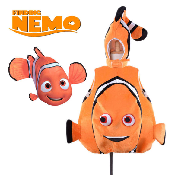 Nemo Fish Cosplay Costume Adult Kids Sea Animal Fish Parenting Game Cosplay Costume Halloween Gift Costume L0516