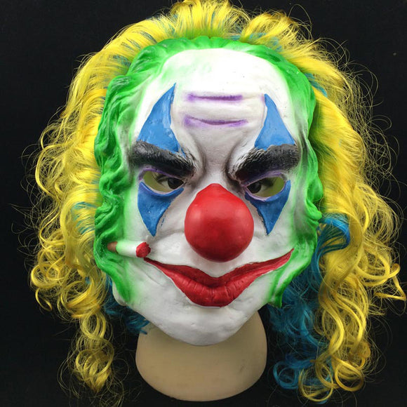 Women Men Funny Mask Joker clown Realistic Latex Mask Adult Costume Masquerade Face Party Carnival Fancy Mask 2017 Zombie Devil