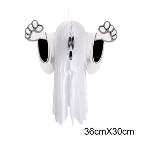 FENGRISE Paper Honeycomb Hanging Ghost for Halloween Party Pumpkin Hanging Ornaments Halloween Decoration Horror Props Supplies