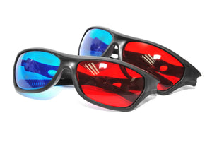BFlowerYan Pack of 2 Red Blue 3D Glasses For Dimensional Anaglyph Movie DVD Game