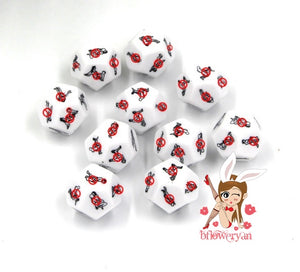 BFlowerYan 1 Dozen 12 Sides Sex Position Dice, Sex Dice of Adult Game