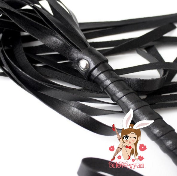 BFlowerYan Pack of 2 Premium Leather Whips SM Sex Toys Kits Costume Cosplay