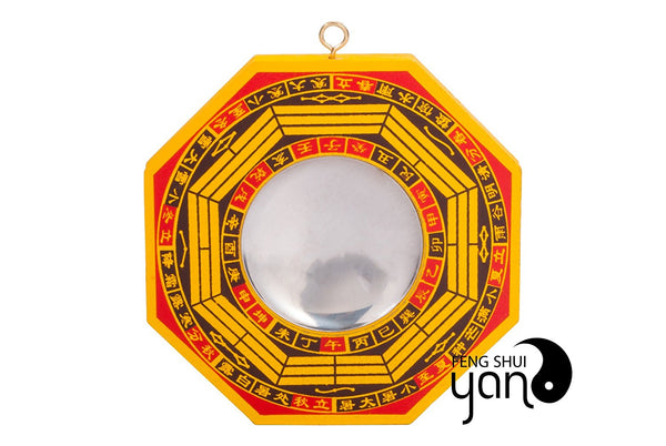 "FengShuiYan 6"" Bagua Mirror Set of 2 for Protection; 1 Concave Mirror for protection against passive negative energy & 1 Convex Mirror for protection against active harmful energy"