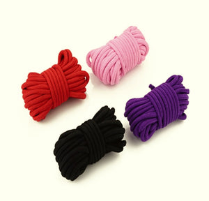 BFlowerYan Pack of 4 32 Feet 10M Soft Twisted Cotton Rope (Random Color)