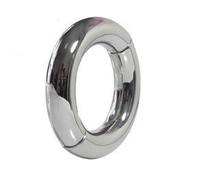 BFlowerYan Thick Heavy Stainless Steel Metal Silver Cock Ring Male Penis Enhancer