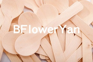 "BFlowerYan Wooden Disposable Spoon, 3.8"" Length - 200 Pack"