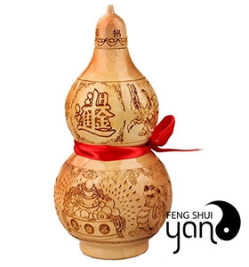 FengShuiYan Feng Shui Peach Wood Mahogany 10.5cm Wu Lou/hu Lu Zhao Cai Jin Bao Bring In Wealth And Treasure