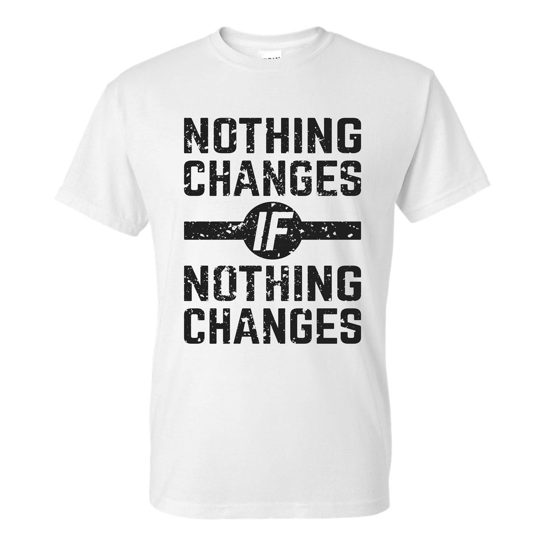 Team Compel Nothing Changes Cotton Tee, White (Unisex)