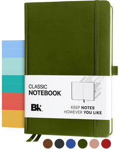 Premium Classic Executive Hardcover Notebook (Line-Ruled Pages)