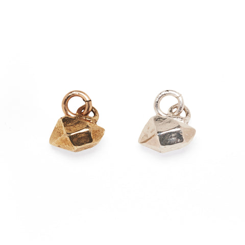 CRYSTAL NUGGET CHARM | 14K GOLD VERMEIL