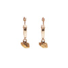 TINY CAST CRYSTAL HOOPS | GOLD VERMEIL