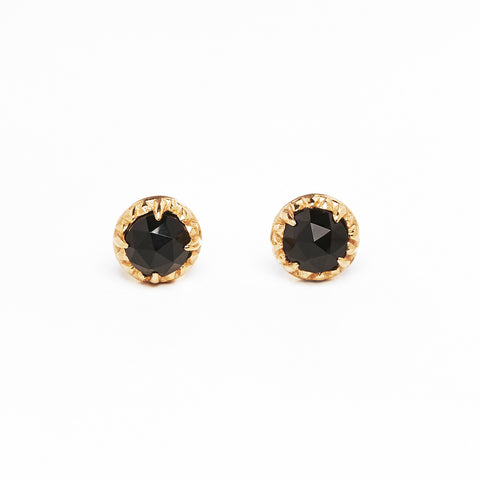 MATRIX HALO STUDS | GOLD VERMEIL & ONYX