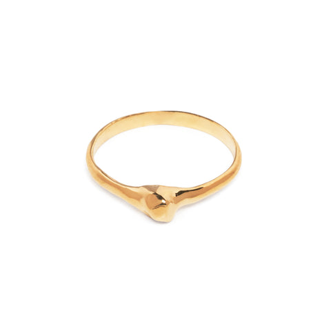 READY TO SHIP | NUGGET MIDI RING | 14K GOLD VERMEIL