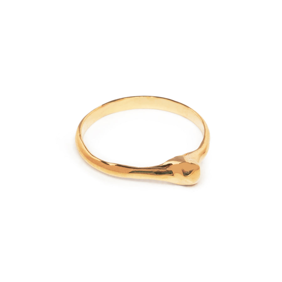 READY TO SHIP | NUGGET MIDI RING | YELLLOW GOLD VERMEIL