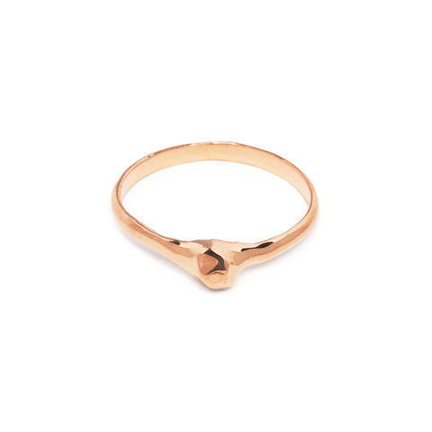 NUGGET MIDI RING | 14K ROSE GOLD VERMEIL
