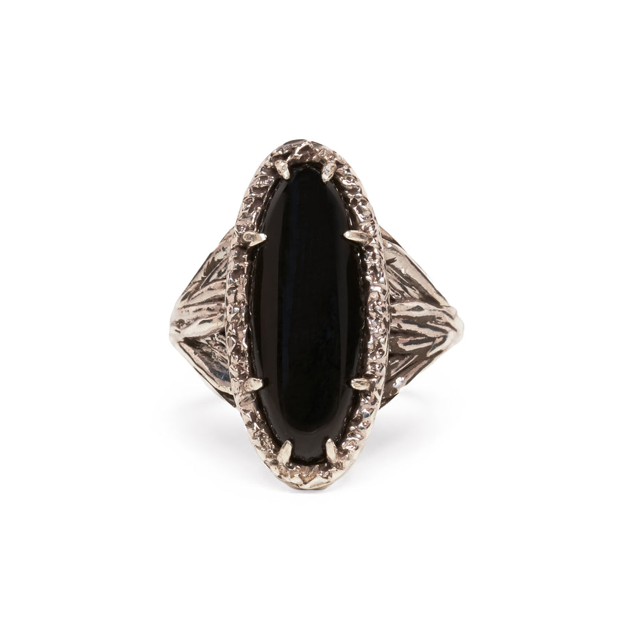 ROOTS TO SEED RING | SILVER & ONYX