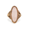 ROOTS TO SEED RING | GOLD VERMEIL & ROSE QUARTZ