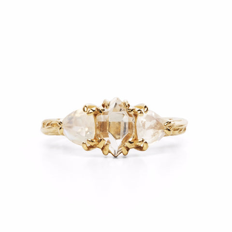 ARTEMIS ENGAGEMENT RING | 14K GOLD & HERKIMER DIAMOND