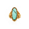 ROOTS TO SEED RING | GOLD VERMEIL & TURQUOISE