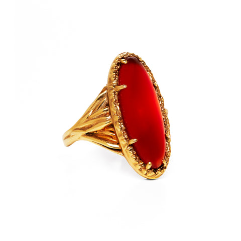 ROOTS TO SEED RING | GOLD VERMEIL & CARNELIAN