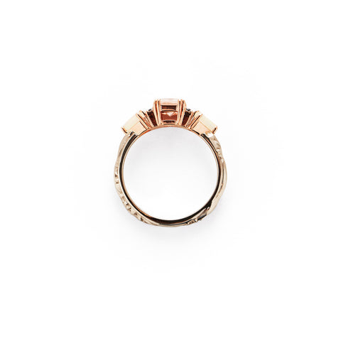 BONADONNA ENGAGEMENT RING | WHITE & ROSE GOLD | MORGANITE & OPAL