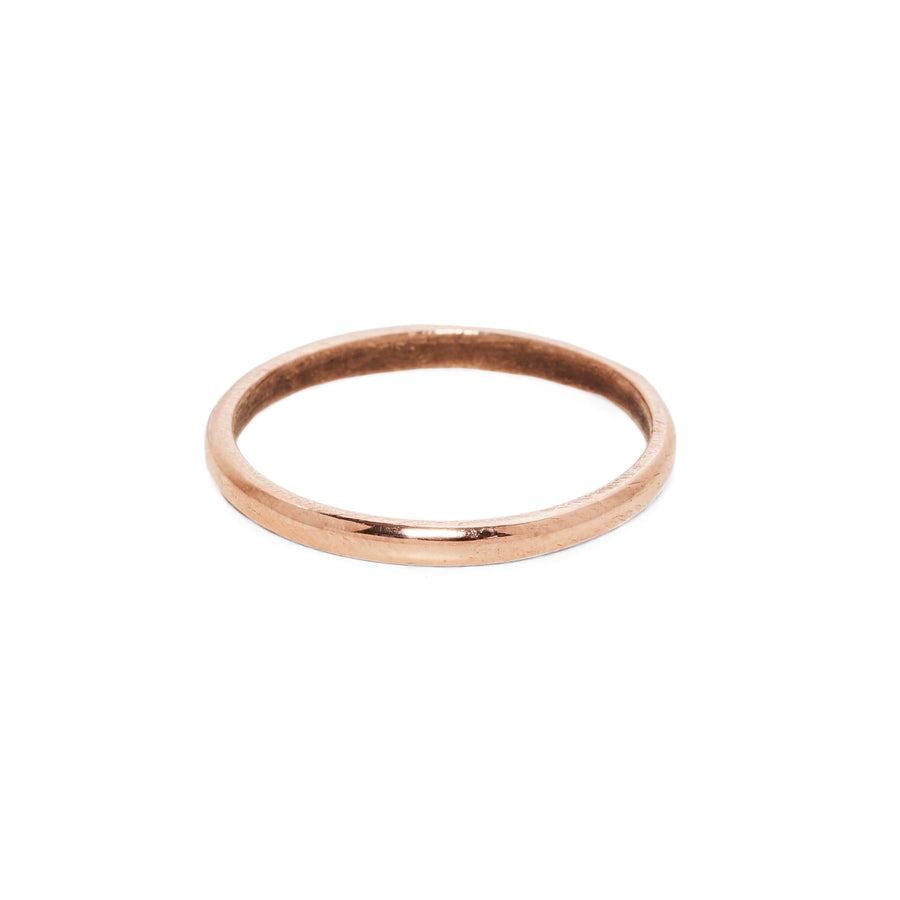 IN STOCK | CLASSIC HIGH ROUNDED BAND | 14K ROSE GOLD