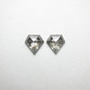 2pc 1.10cttw 6.30x6.23x2.27mm Shield Rosecut Matching Pair 18402-01